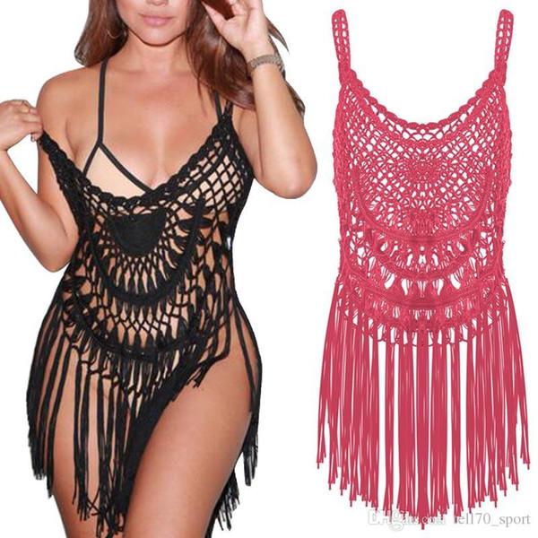 Bulk Lots Black Weaven Nappa Sexy Abbigliamento donna Summer Dress Costume da bagno Beach Cover up Body Costumi da bagno Maillot De Bain Trajes De Baño
