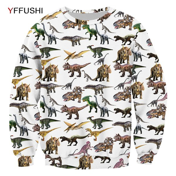 YFFUSHI 2019 Dinosaur imprimé Homme Sweat 3D Pullovers Mode Sweat-shirts Pull-overs unique Deisgn pull-over Hip hop