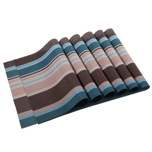 Washable Placemats Heat Insulation Non-slip Table Mats for Kitchen Dining Set of 6