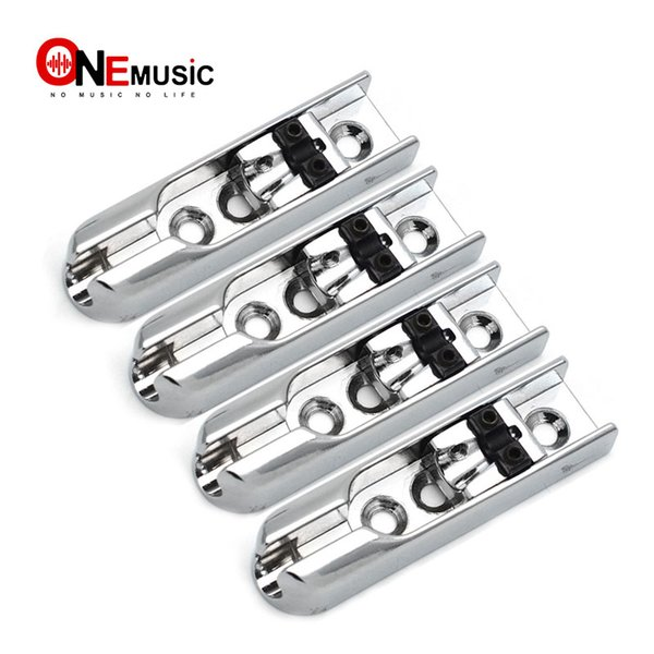 top popular Bass Bridge 4-Single String Bass Bridge 4pcs Individual Chrome 1set 2019