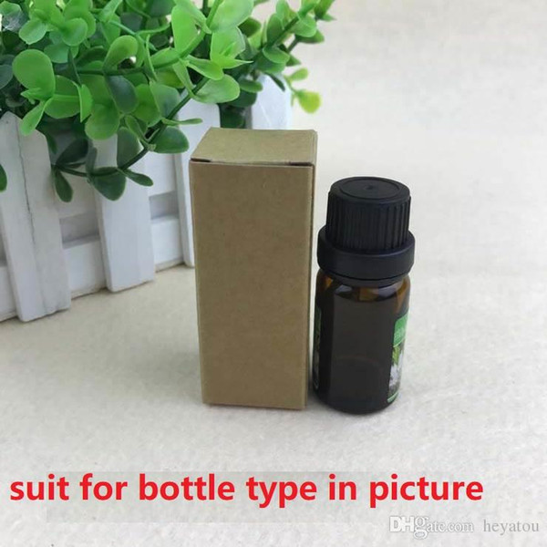 100pcs-5ml/10ml/15ml/20ml/30ml/50ml/100ml White Black Kraft Paper Box for Big Head Bottle Essential Oil sample valve tubes package