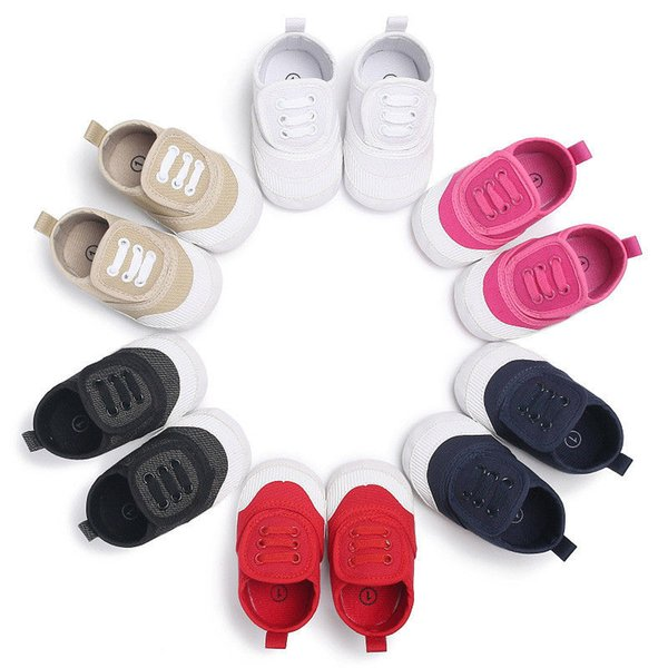 1 Pair Kids Baby Girls Boys Canvas Soft Sole Casual Shoes Toddler Infant Solid Color Unisex Sneaker Shoes Prewalker