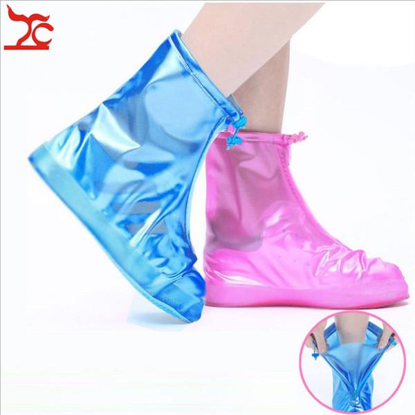 Funda impermeable para botas de lluvia Funda impermeable para botas de lluvia Cremallera impermeable para zapatos parte inferior engrosada