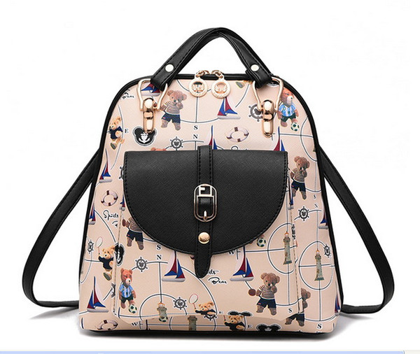 New Design Cartoon Animal Backpack Cute Bear Pattern School bags Backpacks Girls Travel bag Lady Backpack Purses