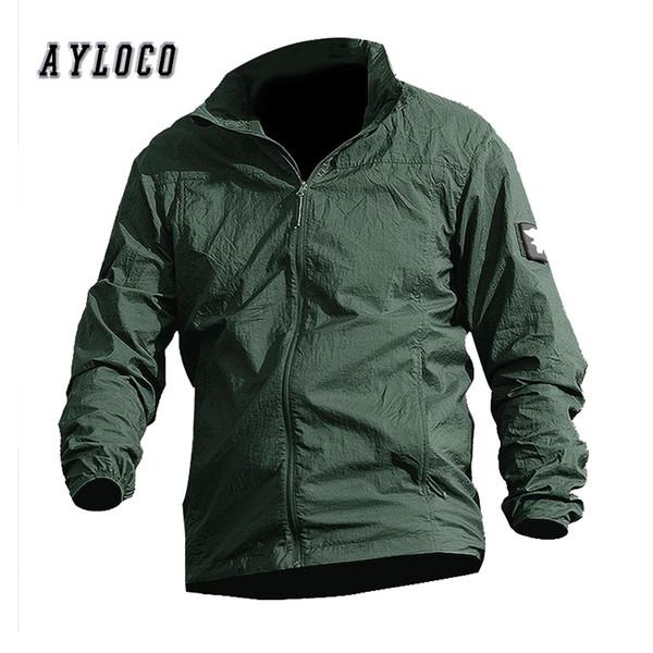 Новые летние тонкие ветровки с капюшоном Fast Dry Sun UV Protection армейская куртка мужская однослойная тактическая одежда