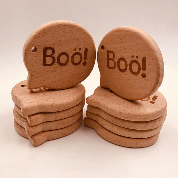 10 stücke Infant Holz Beißringe für Baby Kinder Molar Schnuller Kette Halskette Spielzeug Lebensmittelqualität Buche Kinderkrankheiten Spielzeug