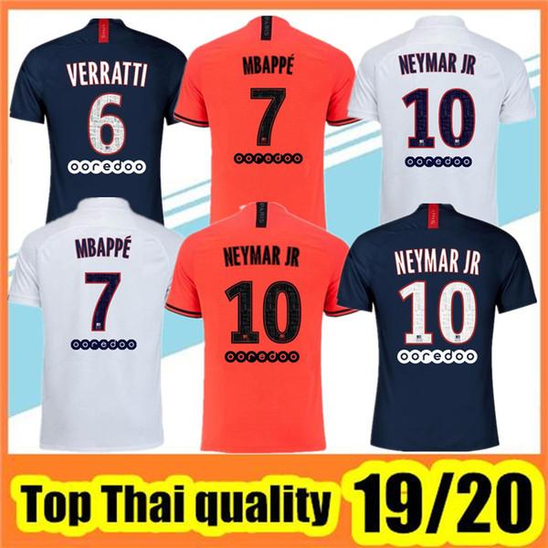 Maillots de football 19 20 Mbappe Fußball-Trikot 2019 2020 Mbappe ICARDI Marquinhos Trikot camisetas de futbol Shirt Männer T-Shirt