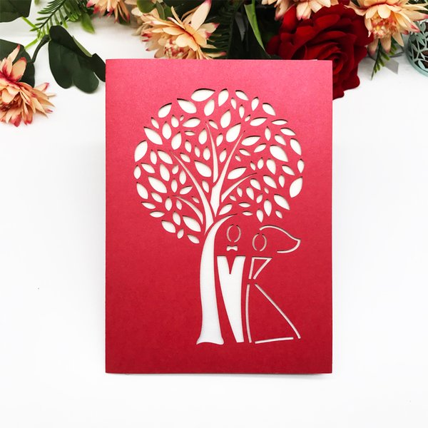 Hollow Laser Cut Wedding Invitation Cards Bride And Groom Marriage Party Birthday Party Grand Events Gift Card Invitation Supplies Wedding Invitation
