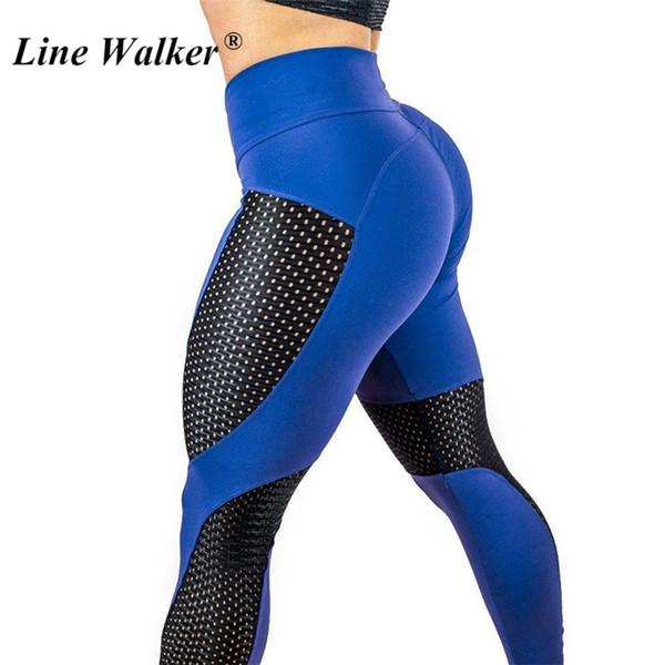 Hattı Yürüteç Mesh Yoga Pantolon Oymak Spor Salonu Kadın Tayt Hızlı kuru Spor Yüksek Bel Push Up Elastik Artı Boyutu Tayt # 1009782