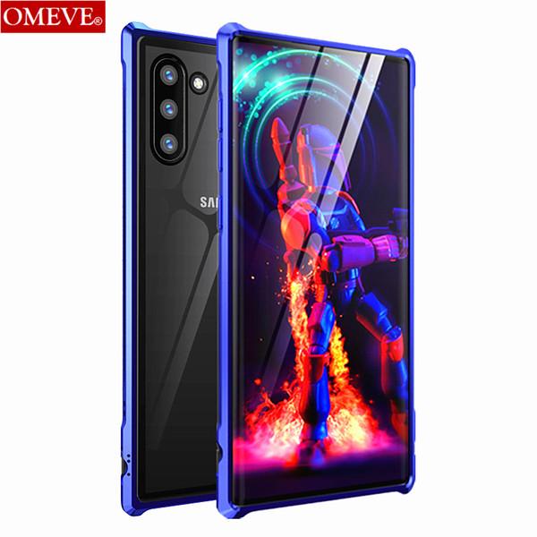 Großhandel für Samsung Galaxy Note 10 Case Metallrahmen Hartglas Back Cover für Samsung Note 10 Plus Bumper Case Note10 Cases