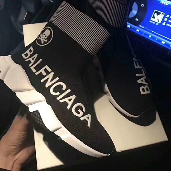 Top Venda Oreo Cores Misturadas Short Stretch Sneaker Moda Das Mulheres Dos Homens Outsoor Sapatos Casuais Quentes Meias Sapatos Botas