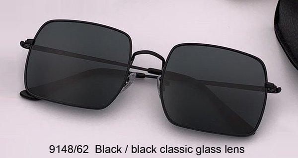 أسود / أسود عدسة الزجاج الكلاسيكي
