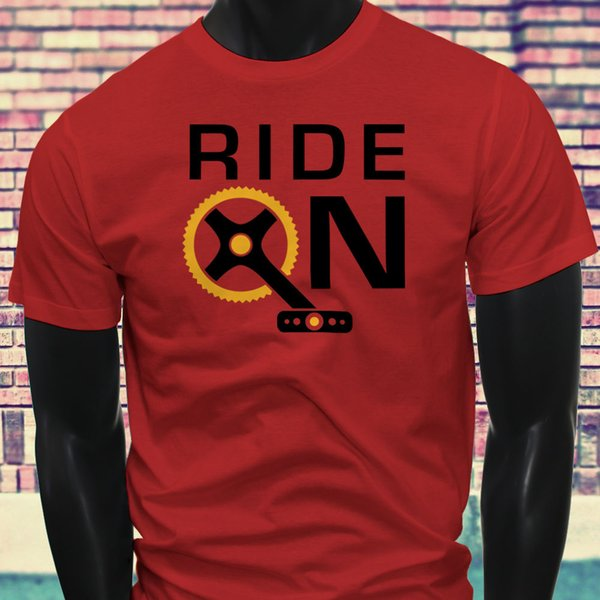 NEW BICYCLE PEDAL RIDER LOVE Fitness RACE RIDE ON CYCLIST Mens Red T-Shirt jacket croatia leather tshirt denim clothes camiseta t shirt