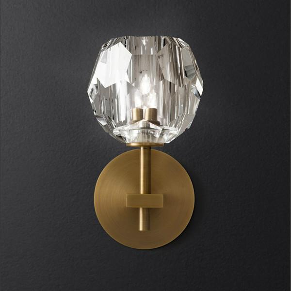 Modern 1/2 Heads Gold Black Wall Lamps Hallway Villa Hotel Wall Light Bedroom Beside Home Lighting Art Lamps