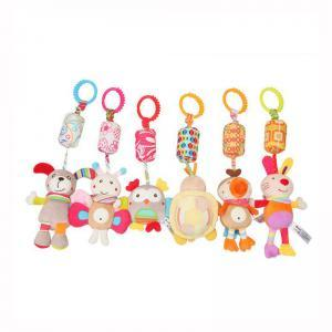 Cartoon plush wind bell pendant Baby Wind chimes Soft plush toys Infant animal Stroller Bed Crib wind bell Hanging Toys TTA155