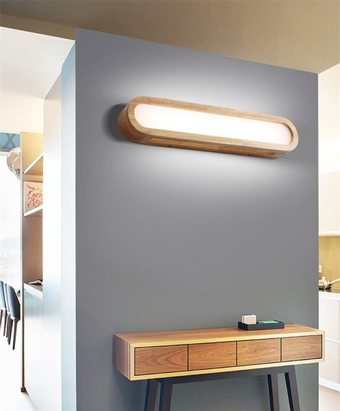 2019 Modern Led Wooden Wall Lamps Nordic Acrylic Glass Wood Lights Sconce Hallway Aisel Hotel Bedroom Minimalist Solid Wood Corridor I152 From Roon