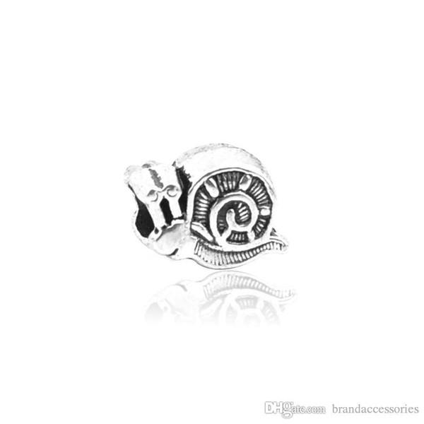 Presente agradável Contas Soltas de Prata Caracol de Aço Gravado Buraco Beads Serve Encantos Pandora Pulseiras Pulseira Pingente de Colar de Jóias DIY Achados HJ22