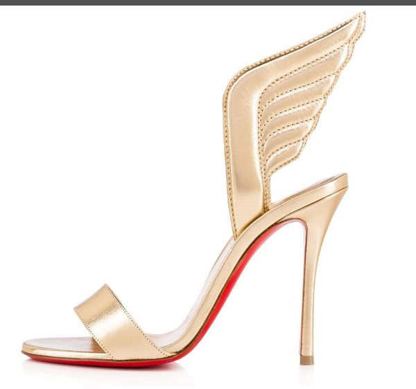 premium selection 6ada1 68fb1 Christian Louboutin CL Fashion Classic High Heel Women'S Shoes Wedding  Shoes Bridal Shoes Sandals C1 Sparx Sandals Blue Shoes From Li369258369, ...