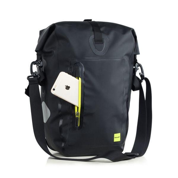 Rhinowalk Cycling Bike Bags Waterproof MTB Bike Rear Rack Bag Portable Multi-function Road Bicycle Pannier Shoulder Bag #469628