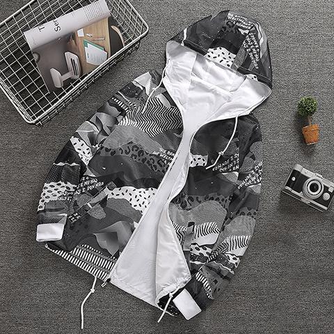 Tasarımcı Erkek Kadın Ceketler Çift taraflı Rüzgarlık Fermuar Hoodies Spor Marka Çiçek Baskı Mont Sokak Tarzı Yüksek Kaliteli B100017L