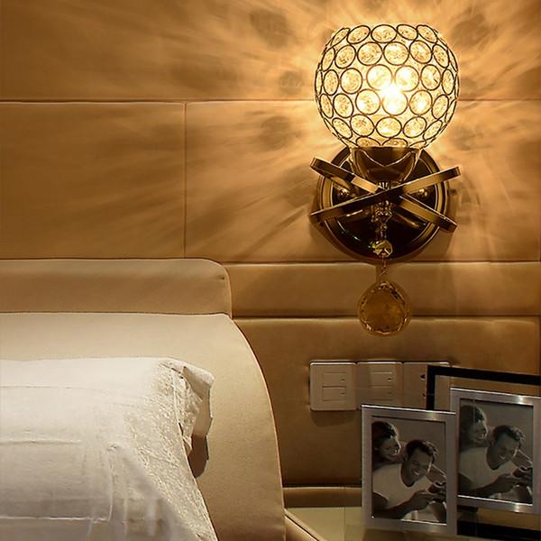 Stile moderno illuminazione domestica salone della lampada da parete di lusso Titolare del paralume luce della parete di cristallo del pendente di E14 Socket (Lampada non inclusa