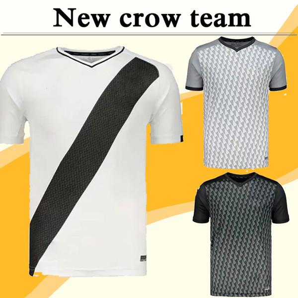 19 20 Mexico Club Crow Mens Football Jerseys Ravens Team New Home White Away Black 3rd Grey Soccer Shirts Camisetas de fútbol Uniforms