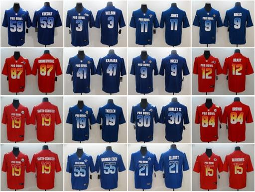 finest selection 5ec9f 3a75d 2019 Pro Bowl Cowboys Saints Patriots Steelers Chiefs Rams Jersey Vikings  Panthers Falcons Seahawks Saints Pro Bowl Limited Stitched Jerseys From ...
