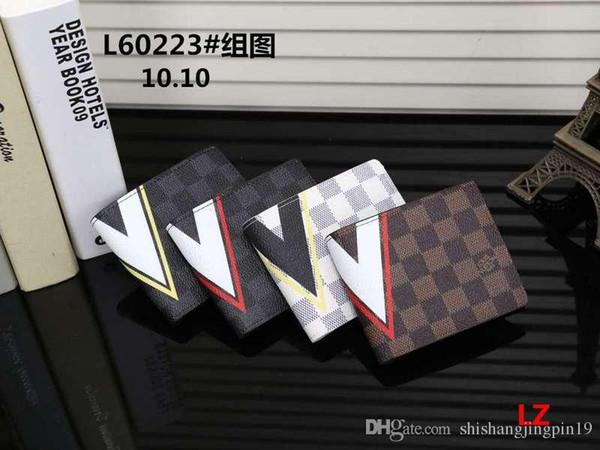 2018 neue männliche luxurys brieftasche beiläufige kurze designer kartenhalter tasche mode geldbörsen für männer geldbörsen geldbörse mit tags versandkostenfrei