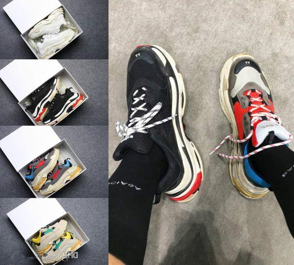 2019 Multi Luxo Triplo S Designer Low New Chegada Sneaker Combinação Solas Botas Homens Womens Runner Shoes Top Quality Sports Sapato Casual