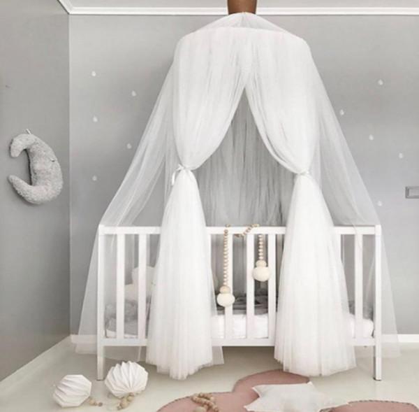 INS Baby Spitze Krippe Netting nordischen Stil Kuppel Moskitonetz Vorhang für Bettwäsche Kinder Bögen Raumdekor Neugeborenen Fotografie Requisiten F7595
