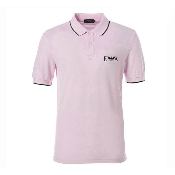 2019 tendência da moda nova marca dos homens moda casual de manga curta t-shirts, magro camisa casual POLO, Paul camisa