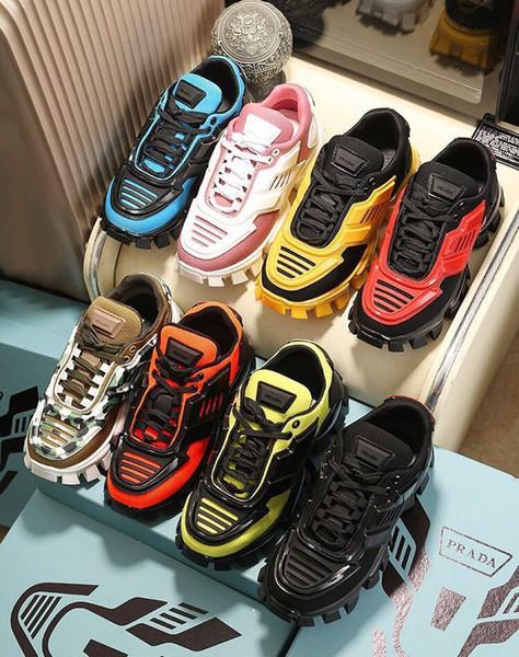 Sıcak 2 Chainz x Zincir Reaksiyonu Sneakers Tasarımcı Lüks Ayakkabı Spor Moda Günlük Ayakkabılar Eğitmen Hafif Bağlantı-Kabartma Sole ile Toz Torbası