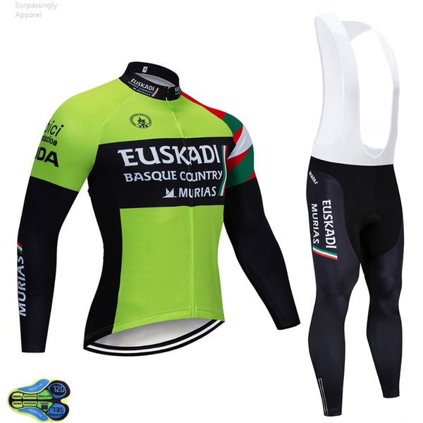 864f485d428a 2019 Tour de France EUSKADI Ciclismo Jersey Bicicleta Pantalones Set 12D  Gel Pad Hombre Ropa Ciclismo
