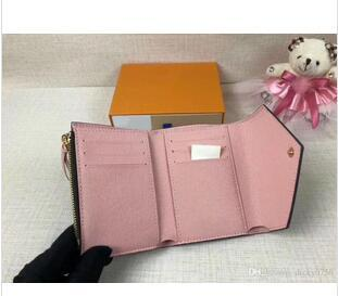 top popular 2019 HOT Clasicc Woman Wallet New Leather With Wallets For woman Purse Wallet printing Short Wallet22 2021
