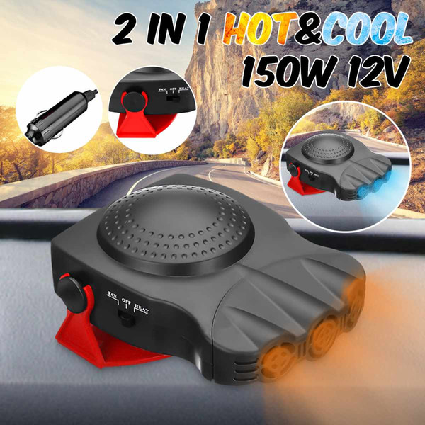 Window Demister Defroster Driving Car Defroster Demister 12V 12.5A 150W Protable Auto Car Heater Heating Cooling Fan Windscreen