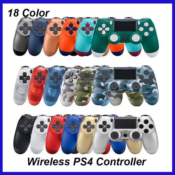 Top mando inalámbrico CHOQUE 4 Gamepad para PS4 palanca de mando con el paquete al por menor Controlador logo del juego de Flydream