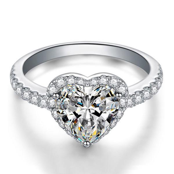 bague diamant rose coeur