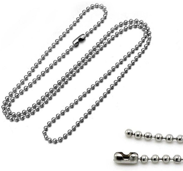 200 pcs/lot,Electroplate Non-fading Necklaces DIY Bead chain Safety without stimulation Shining 3 colors Pendant Chain Model length 60 cm