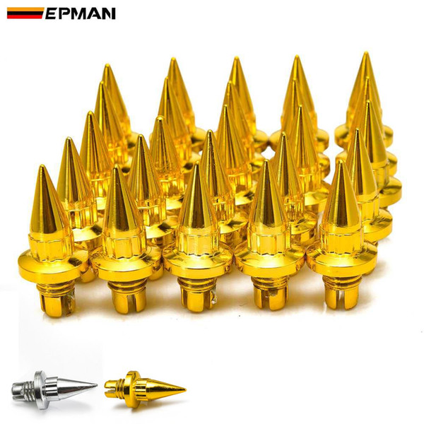 top popular EPMAN -25pcs lot Plastic Spike Wheel Rivets For Wheel Rims Cap Lip Screw Bolt Tires EPAS056G 2021