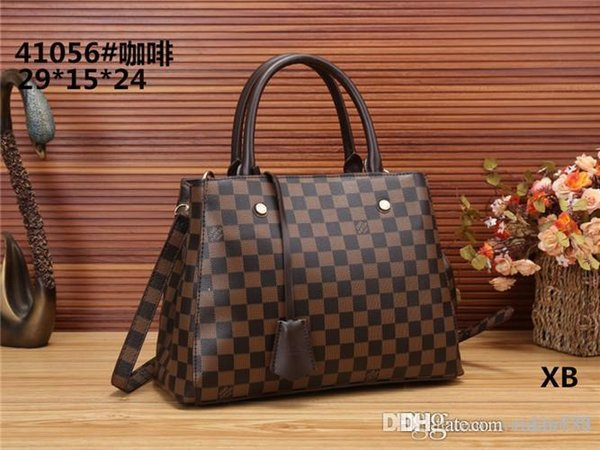 2018 styles Handbag Famous Designer Brand Name Fashion Leather Handbags Women Tote Shoulder Bags Lady Leather Handbags Bags purse41056