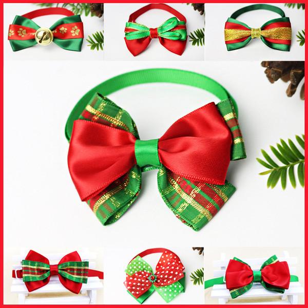 크리스마스 애완 동물 고양이 개 목걸이 나비 넥타이 조정 넥 스트랩 고양이 개 매듭 목걸이 미용 액세서리 애완 동물 강아지의 제품 공급