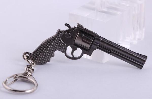 Миниатюрный револьвер пистолет оружие мода модель брелок брелоки новый мини-пистолет брелок для мужчин ювелирные изделия сюрприз подарок
