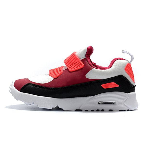 Sneakers Shoes classic 90 boy girl kids children Running Shoes Black Red White Sports Trainer Air Cushion Surface Breathable Sports Shoes