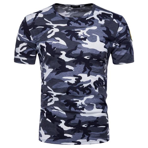 Nova Moda Militar Fã Camo Camisetas Rússia Brave Homens Manga Curta O-pescoço Camuflagem Impressão Exército Verde Vermelho Azul Knit Tees Tops