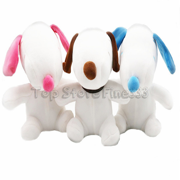 Peanuts SNOOPY Stuffed Animals 21CM/8Inches SNOOPY Plush Doll Toys 3Colors Mix Best Christmas Gifts DHL Wholesale kids toys