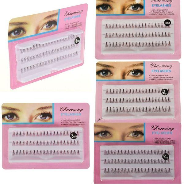 60pcs/Set 8/10/12/14 mm Individual Lashes Black 6D Natural Fake False Eyelash Long Cluster Extension