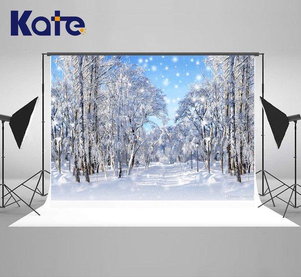 Sfondi Kate photography inverno Fondali congelata da neve per Photo Studio dell'albero di Natale contesti di ripresa per il matrimonio