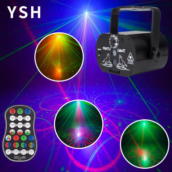 Luzes de discoteca DJ Disco Efeito de Iluminação LED Mini USB Projetor Laser Light para Venda de Aniversário de Casamento