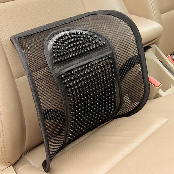 Universal Mesh Car Seat Lumbar Support Massage Chair Back Waist Cushion Pad For Car Office Home SH190713