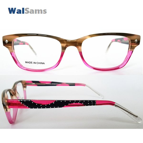 Colorful Acetate Fashion Optical Frames with Clear Lens Handmade 100% with Flexible for Youthful Teenage Children Painting-3228S